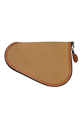 Justin Tan Rough Out Leather Small Pistol Case