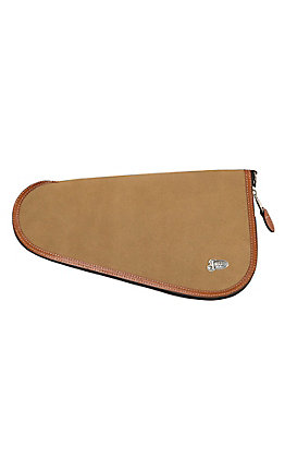 Justin Tan Rough Out Leather Medium Pistol Case