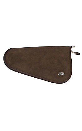 Justin Chocolate Rough Out Leather Medium Pistol Case