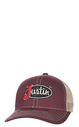 Justin Maroon with Tan Mesh Logo Cap