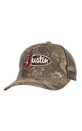 Justin Classic Logo Camo Brown Cap