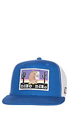 Justin Blue Dillo Dillo with White Mesh Snapback Cap