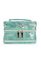 PurseN Metallic Turquoise Vacationer Jewelry Case