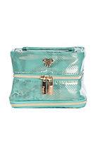 PurseN Metallic Turquoise Tiara Weekender Jewelry Case