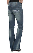 Cowgirl Tuff Women's Medium Wash Dont Fence Me In Boot Cut Jeans
