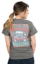 Girlie Girl Originals Women's Charcoal I've Got Jeep Hair and I Don't Care Short Sleeve T-Shirt