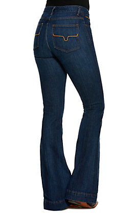 Kimes Ranch Jennifer Dark Wash Super Flare Jeans