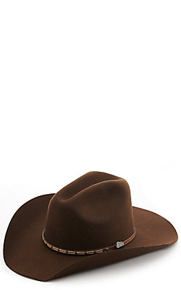Justin Bent Rail Gus Chocolate Felt Hat