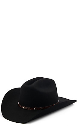 Justin Youth Lonestar Jr. Black Felt Cowboy Hat