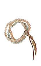 Amber's Allie Rose Beaded Stretch Beading Bracelet
