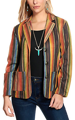 Fashion Express Women's Serape Stripe Blazer