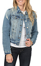 Boom Boom Jeans Women's Beach Destructed Denim Jacket