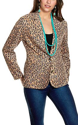 Fashion Express Women's Leopard Print Blazer