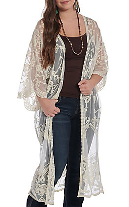 Wishlist Women's Natural Lace Duster