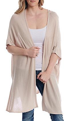 Wishlist Women's Natural Solid Kimono
