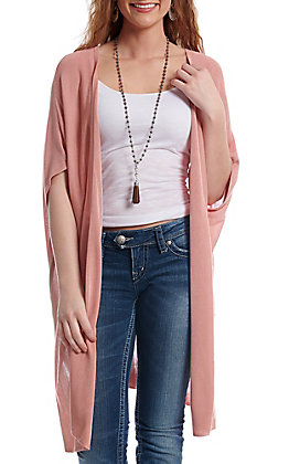 Wishlist Women's Rose Solid Kimono