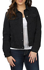 One 5 One Women's Ebony Black Denim Jacket