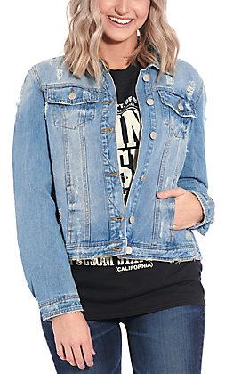 Women's Distressed Denim Jacket