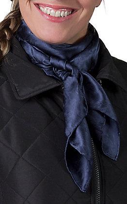 Jacquard Navy Silk Wild Rags Scarf