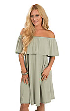 James C Women's Sage Ruffle Off-The-Shoulder Dress