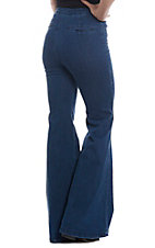 Flying Tomato Women's Dark Wash Wide Leg Bell Bottom Jeans