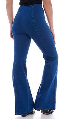 Jealous Tomato Women's Dark Wash Flare Jeans