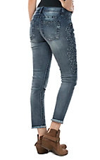 Miss Me Women's Frayed Angle Skinny Jeans