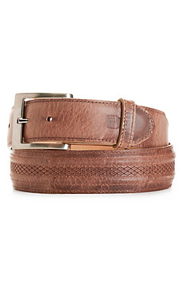 JRC & Sons Men's Peanut Mad Dog Goat Leather Belt