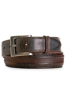 JRC & Sons Men's Chocolate Mad Dog Goat Leather Belt