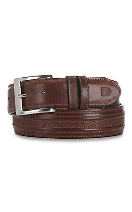 JRC & Sons Men's Tan Ranch Hand Leather Belt