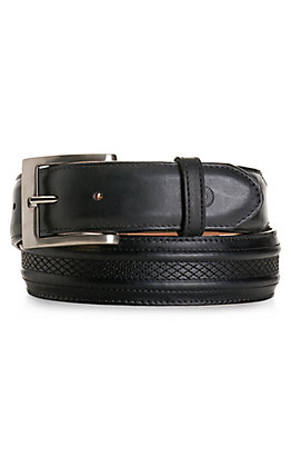 JRC & Sons Men's Black Ranch Hand Leather Belt