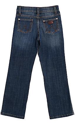Wrangler Retro Boys' Falls City Medium Wash Relaxed Fit Boot Cut Leg Stretch Jean (1T-7)