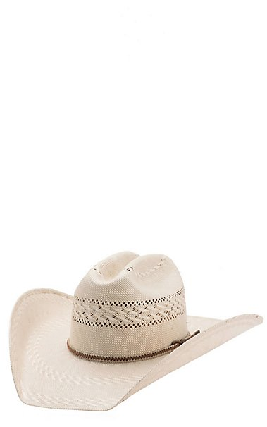 Justin Bent Rail Garrett Two Tone Vented Crown Straw Cowboy Hat ... 1453679e8e7