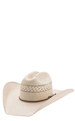 Justin Bent Rail Garrett Two Tone Vented Crown Straw Cowboy Hat