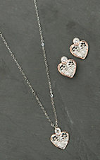 Montana Silversmiths Heart Filigree Jewelry Set
