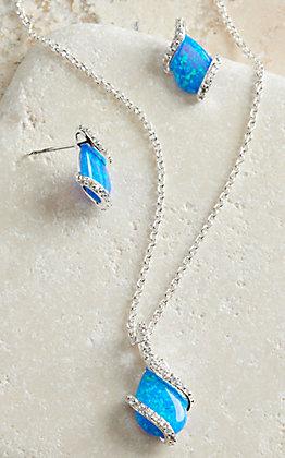 Montana Silversmiths Wrapped Opal Jewelry Set