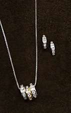 Montana Silversmiths Two-Tone A Path of Star Lights Jewelry Set