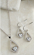 Montana Silver Smith Hearts on a Swing Jewelry Set