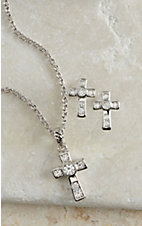 Montana Silver Smith A Mark of Faith Cross Jewelry Set