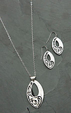 Montana Silversmiths LeatherCut Trailing Night Vines Jewelry Set