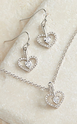 Montana Silversmiths Striaght to the Heart Arrow Jewelry Set