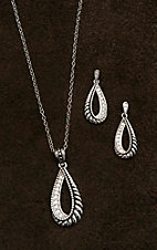 Montana Silversmiths Frosted Rope Twist Jewelry Set