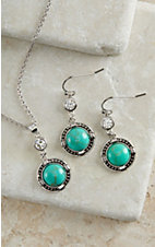Montana Silver Smith True North Turquoise Jewelry Set