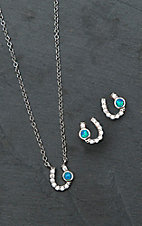 Montana Silversmiths Lightfoot Horseshoe Jewelry Set