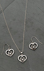 Montana Silver Smith Star of My Heart Horseshoe Jewelry Set