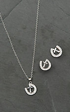 Montana Silversmiths Walking the Path of Faith Horseshoe Jewelry Set