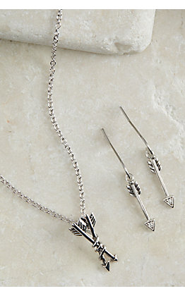 Montana Silversmiths Wanderer Double Arrow Jewelry Set