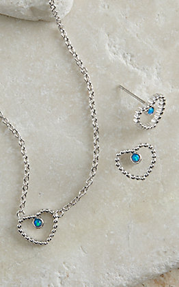 Montana Silversmiths Beads of My Heart Opal Jewelry Set