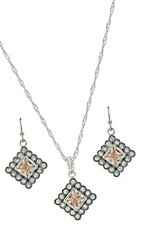 Montana Silversmiths Roped Sunset Lights Jewelry Set