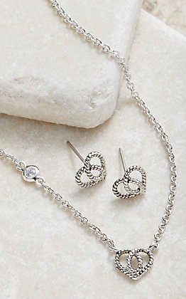 Montana Silvermiths Forever Love Heart Mini Jewelry Set